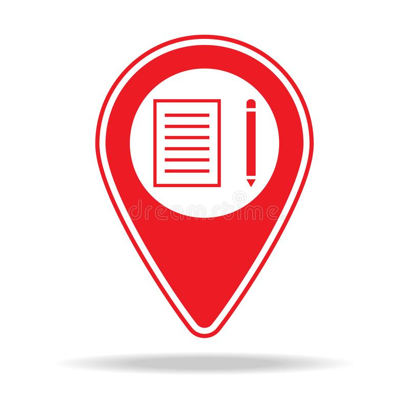 icône de goupille de carte d'école Élément d'icône d'avertissement de goupille de navigation pour les apps mobiles de concept et  illustration de vecteur