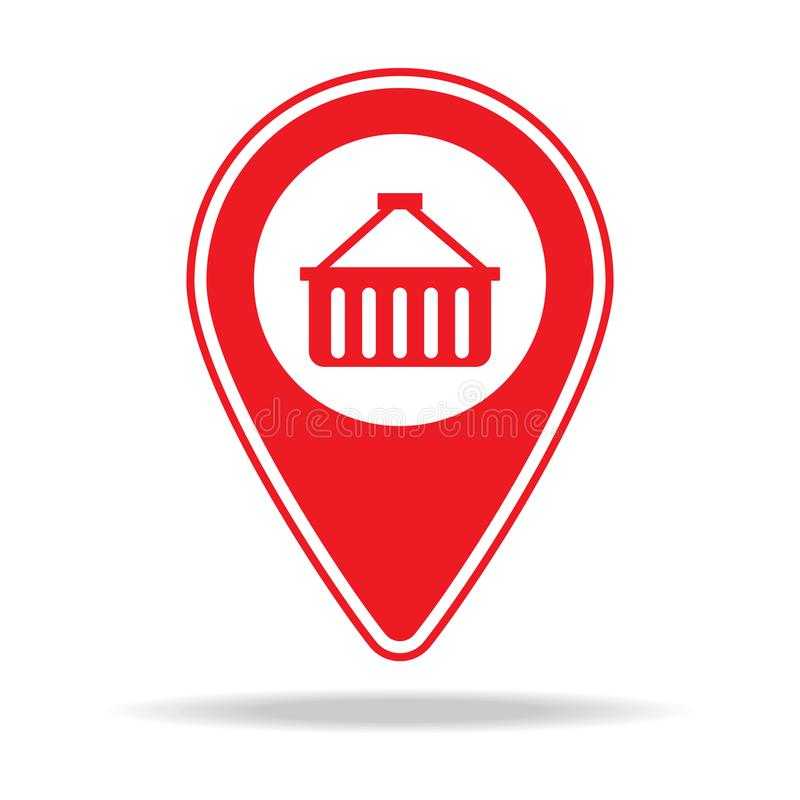 icône de goupille de carte d'épicerie Élément d'icône d'avertissement de goupille de navigation pour les apps mobiles de concept  illustration stock