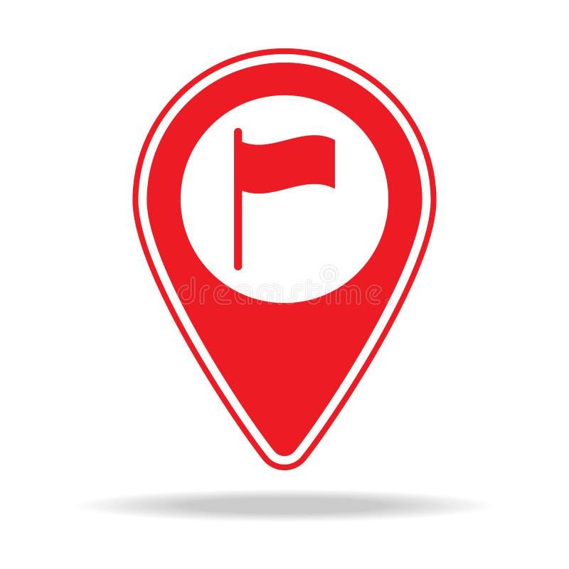 icône de goupille de carte d'ambassade Élément d'icône d'avertissement de goupille de navigation pour les apps mobiles de concept illustration de vecteur