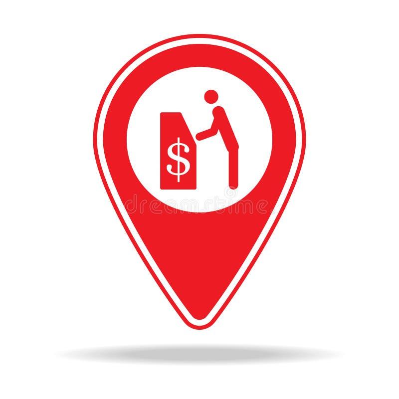 icône de goupille de carte d'atmosphère Élément d'icône d'avertissement de goupille de navigation pour les apps mobiles de concep illustration libre de droits