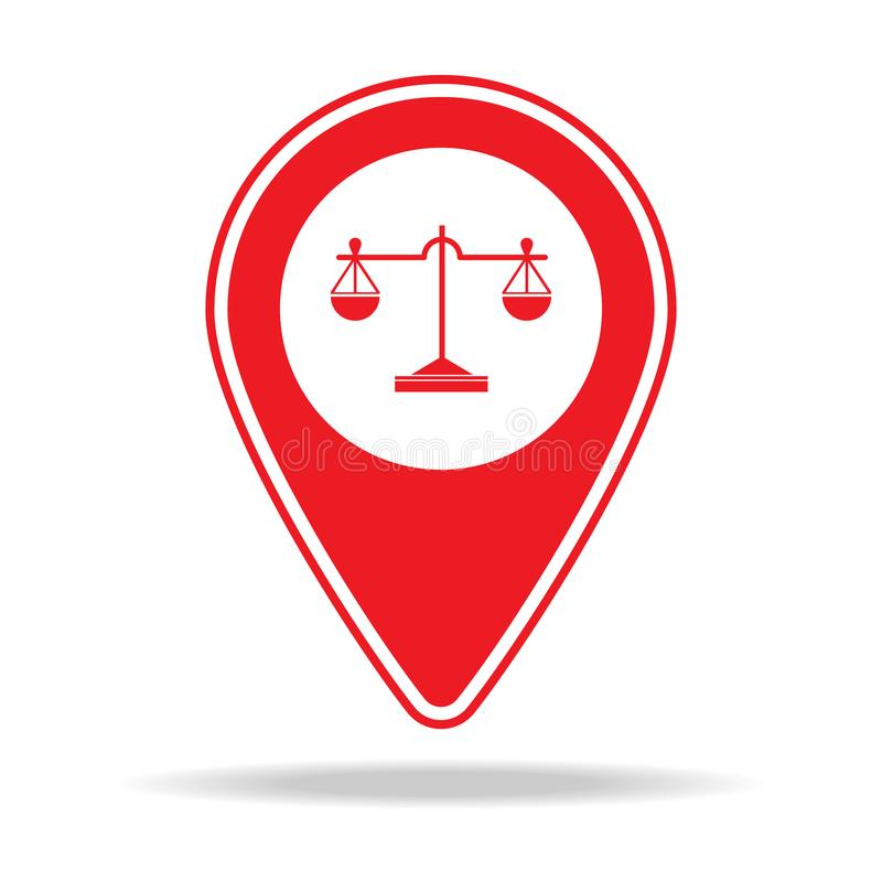 icône de goupille de carte d'avocat Élément d'icône d'avertissement de goupille de navigation pour les apps mobiles de concept et illustration libre de droits
