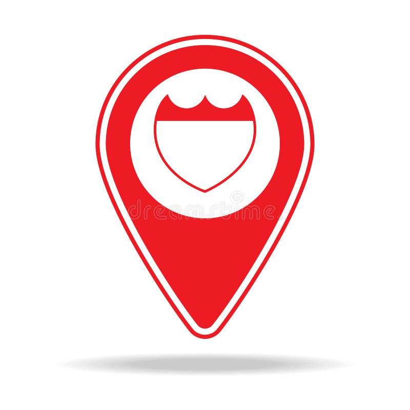 icône de goupille de carte d'itinéraire Élément d'icône d'avertissement de goupille de navigation pour les apps mobiles de concep illustration libre de droits