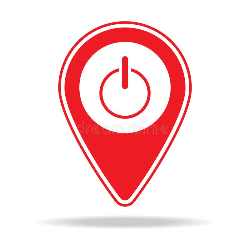 icône de goupille de carte de magasin de l'électronique Élément d'icône d'avertissement de goupille de navigation pour les apps m illustration de vecteur