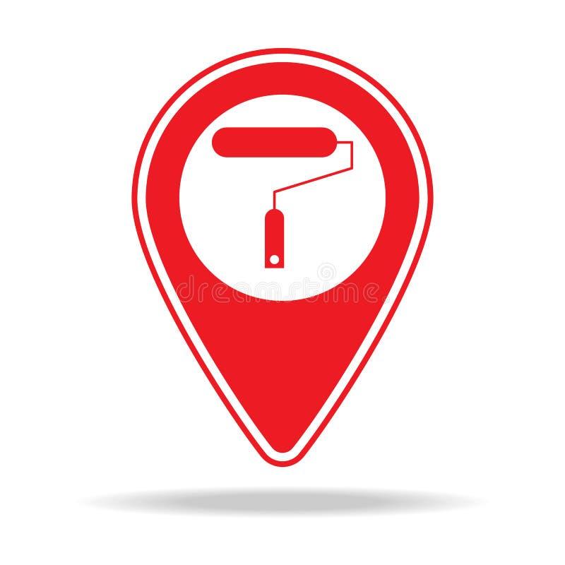 icône de goupille de carte de peintre Élément d'icône d'avertissement de goupille de navigation pour les apps mobiles de concept  illustration stock