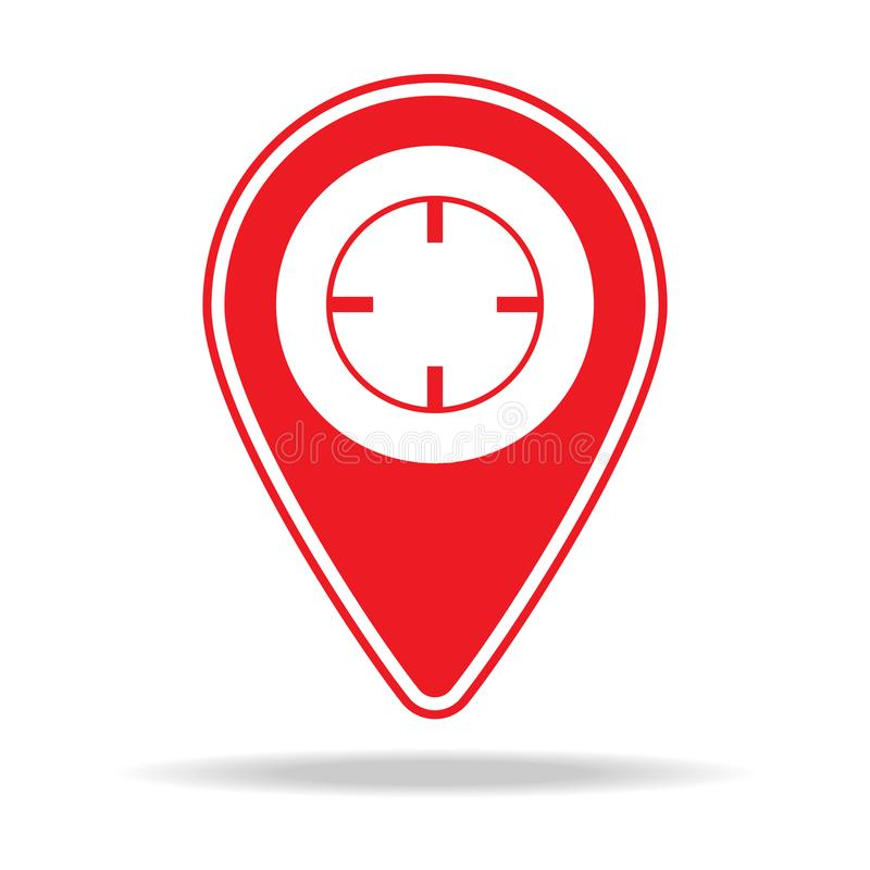 icône de goupille de carte de réticules Élément d'icône d'avertissement de goupille de navigation pour les apps mobiles de concep illustration stock
