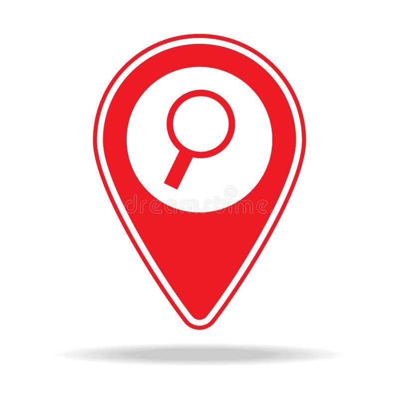 icône de goupille de carte de recherche Élément d'icône d'avertissement de goupille de navigation pour les apps mobiles de concep illustration de vecteur