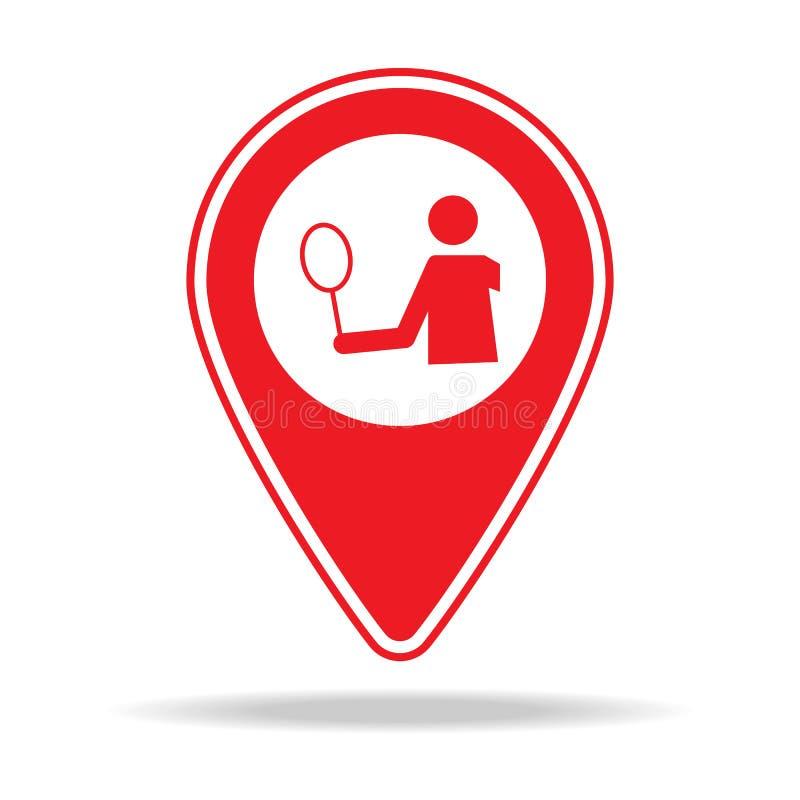 icône de goupille de carte de stade Élément d'icône d'avertissement de goupille de navigation pour les apps mobiles de concept et illustration de vecteur