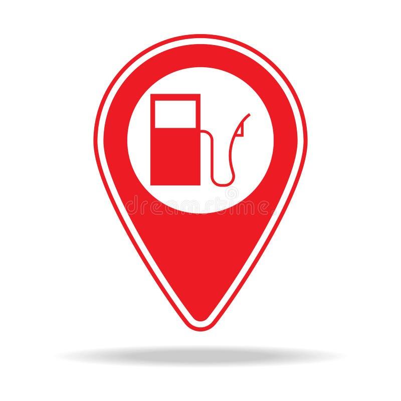 icône de goupille de carte de station service Élément d'icône d'avertissement de goupille de navigation pour les apps mobiles de  illustration libre de droits