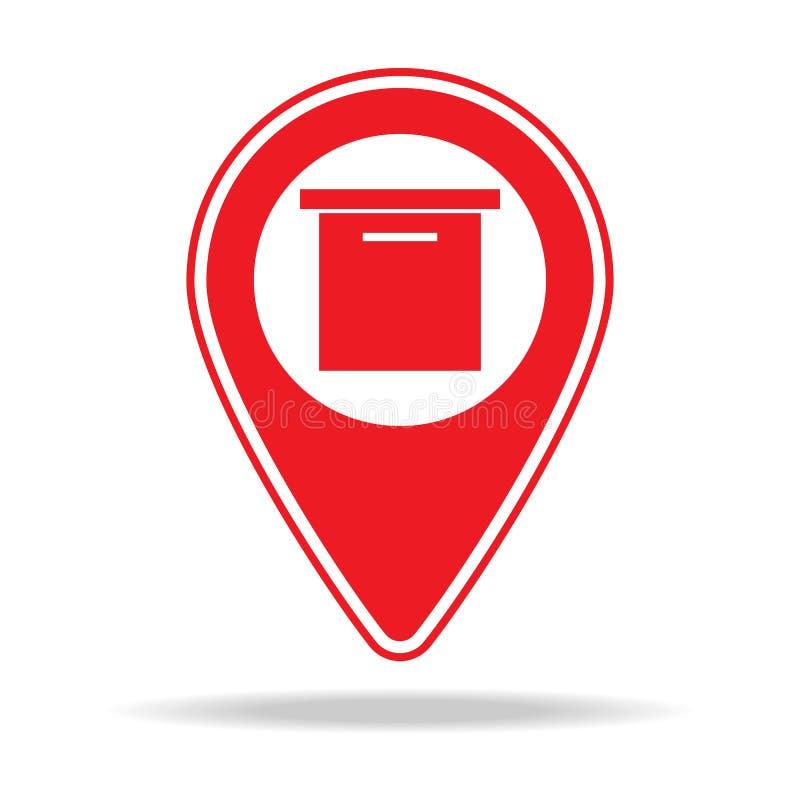 icône de goupille de carte de stockage Élément d'icône d'avertissement de goupille de navigation pour les apps mobiles de concept illustration stock