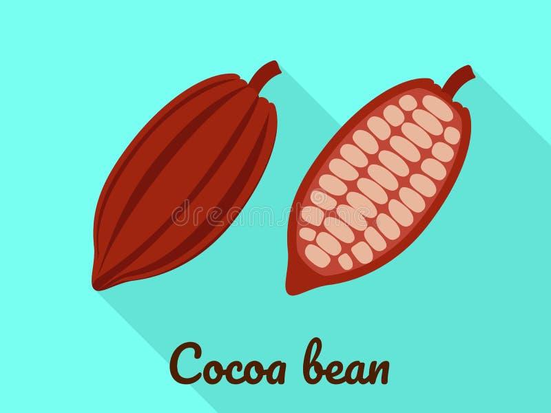 Icône de graine de cacao, style plat illustration libre de droits