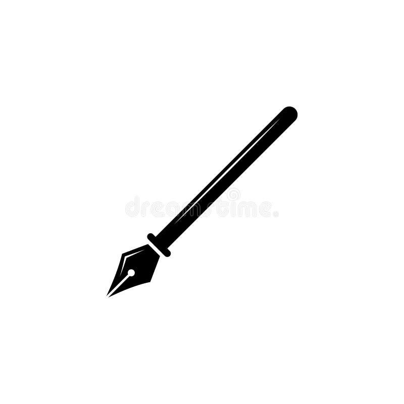 Icône de graine de stylo-plume Icône d'obtention du diplôme de vecteur éducation, illustration stock
