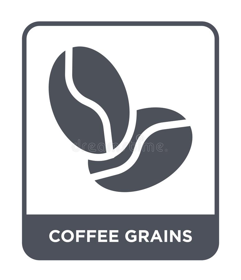 icône de graines de café dans le style à la mode de conception icône de graines de café d'isolement sur le fond blanc icône de ve illustration stock