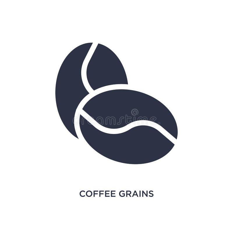 icône de graines de café sur le fond blanc Illustration simple d'élément de concept de culture illustration stock