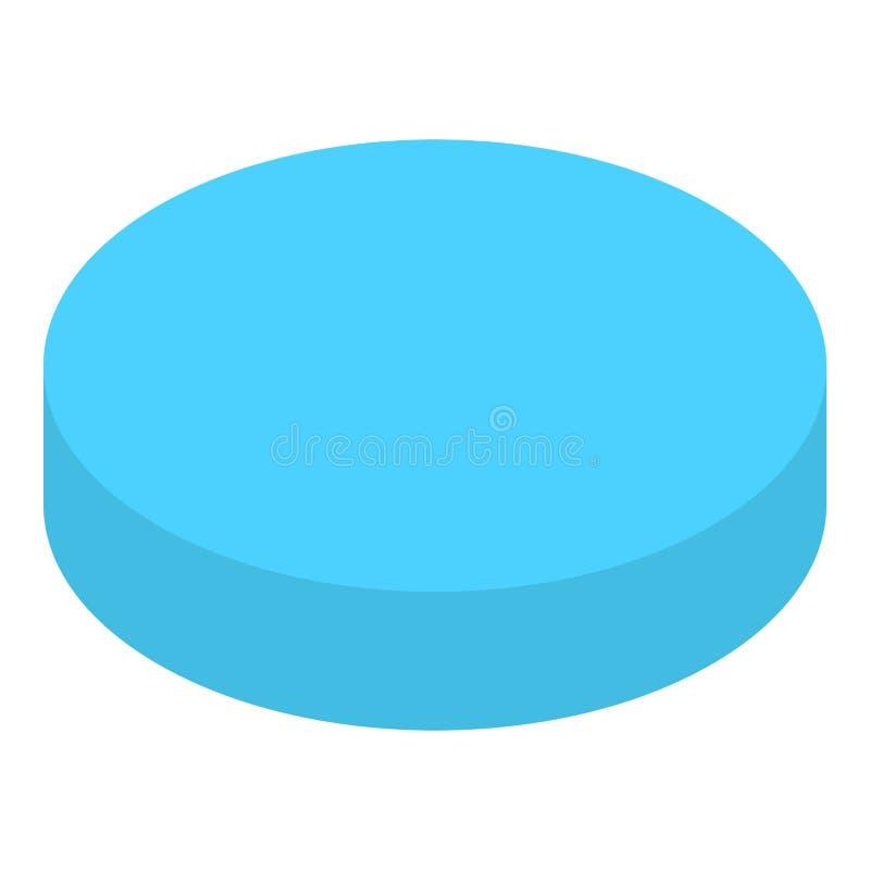 Icône de graphique circulaire de cercle, style isométrique illustration stock