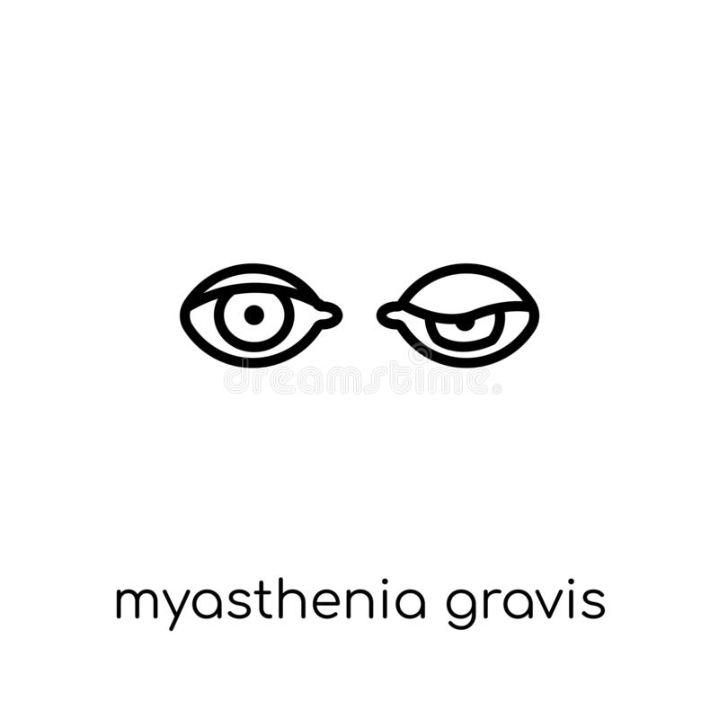 Icône de gravis de Myasthenia  illustration stock