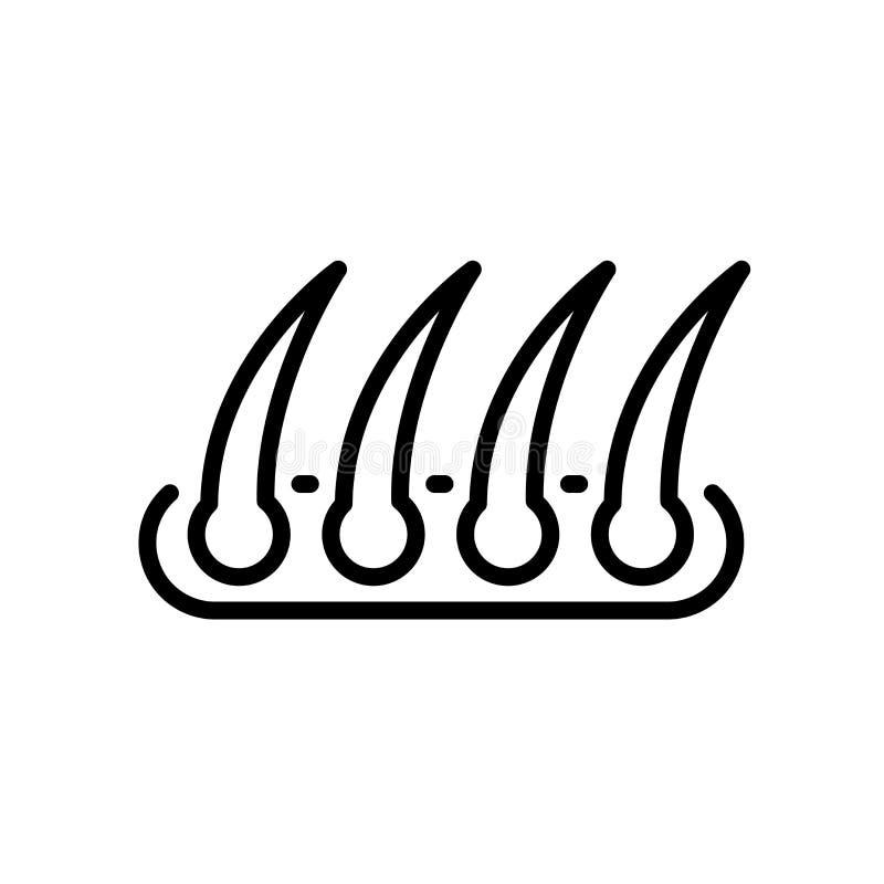 icône de greffe de cheveux d'isolement sur le fond blanc illustration de vecteur