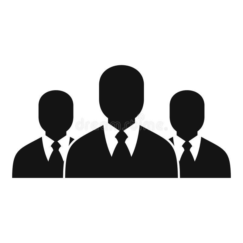 Icône de groupe d'affaires, style simple illustration de vecteur