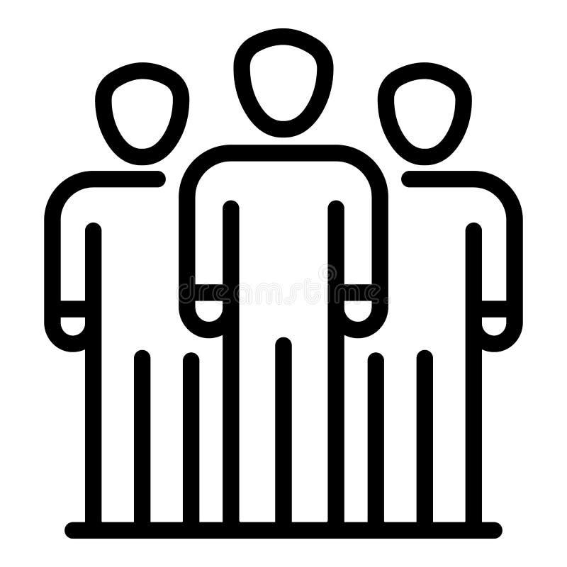 Icône de groupe d'hommes d'affaires, style d'ensemble illustration stock