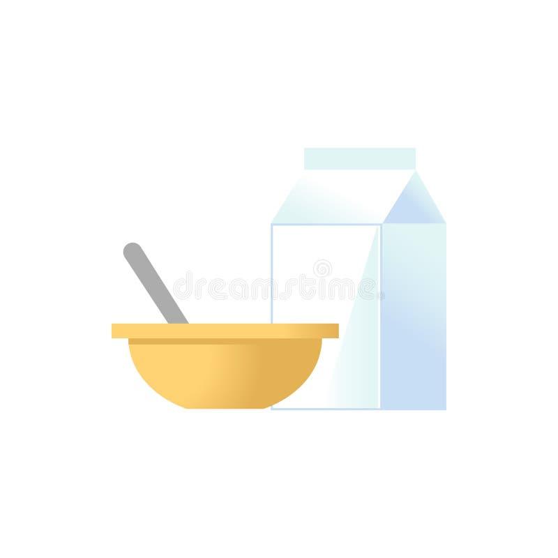Icône de gruau de lait illustration de vecteur