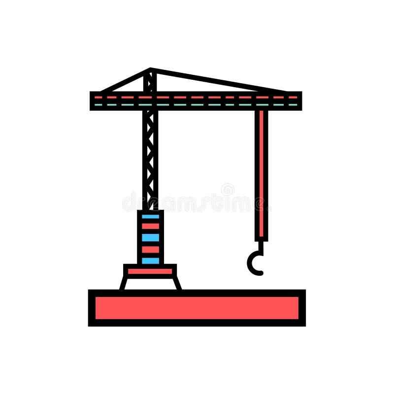 Icône de grue de symbole de signe de vecteur d'icône de machine de grue illustration libre de droits