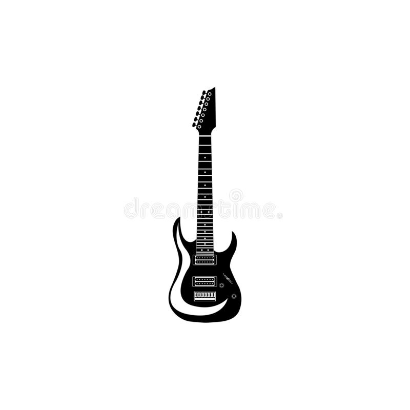 Icône de guitare électrique sur un fond blanc illustration libre de droits