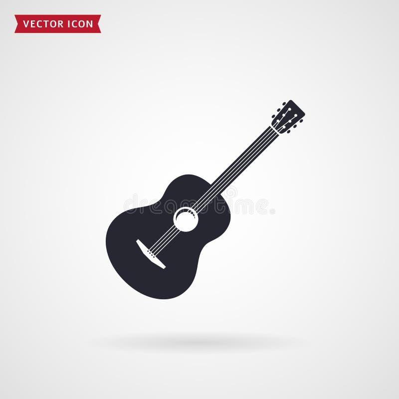 Icône de guitare Vecteur illustration stock