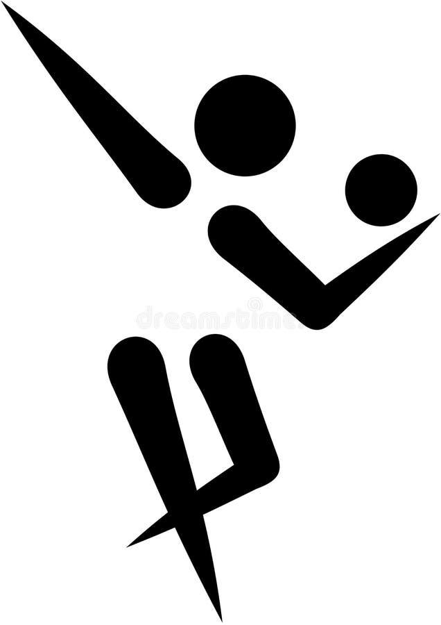 Icône de gymnastique rythmique illustration libre de droits