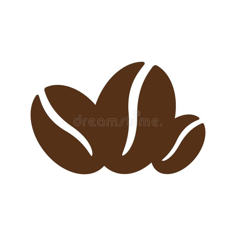 Icône de haricots de Coffe - vecteur illustration libre de droits