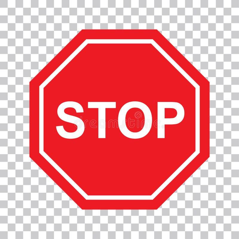 Icône de haute qualité de symbole de signe d'arrêt L'interdiction d'avertissement de symbole de danger se connectent le vecteur d illustration libre de droits
