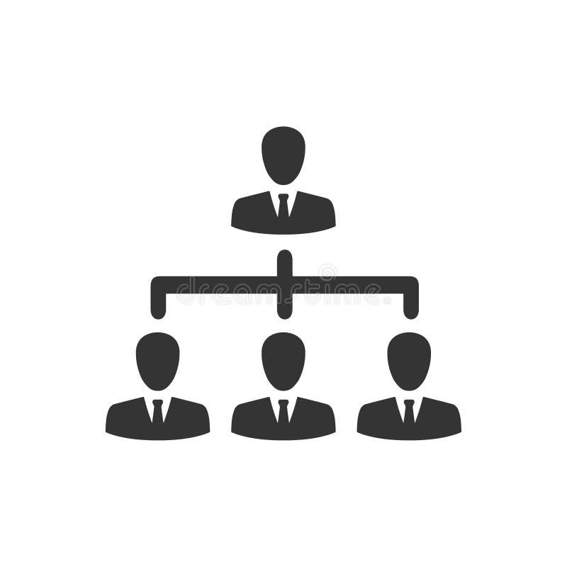 Icône de hiérarchie d'affaires illustration libre de droits
