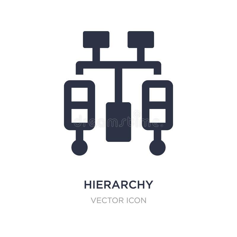icône de hiérarchie sur le fond blanc Illustration simple d'élément de concept d'affaires et d'analytics illustration stock