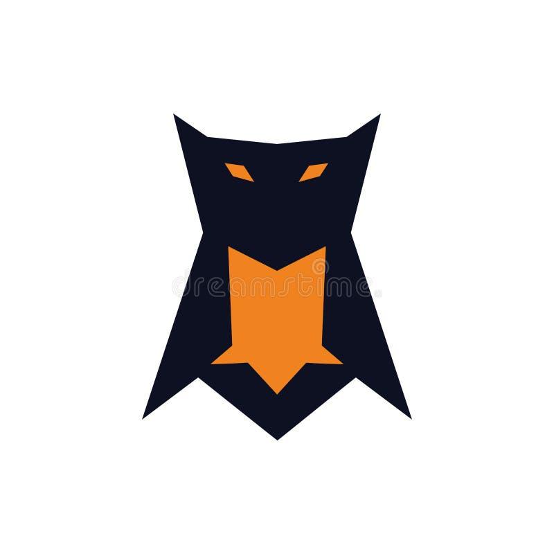 Icône de hibou ou concept de logo de symbole illustration stock