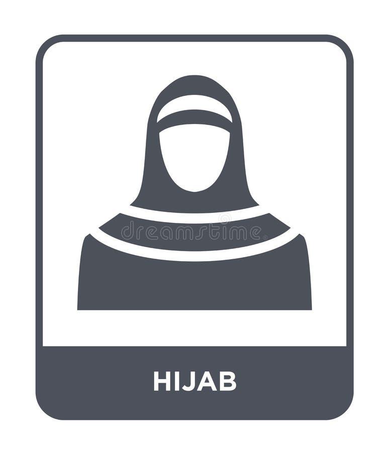 icône de hijab dans le style à la mode de conception icône de hijab d'isolement sur le fond blanc symbole plat simple et moderne  illustration libre de droits