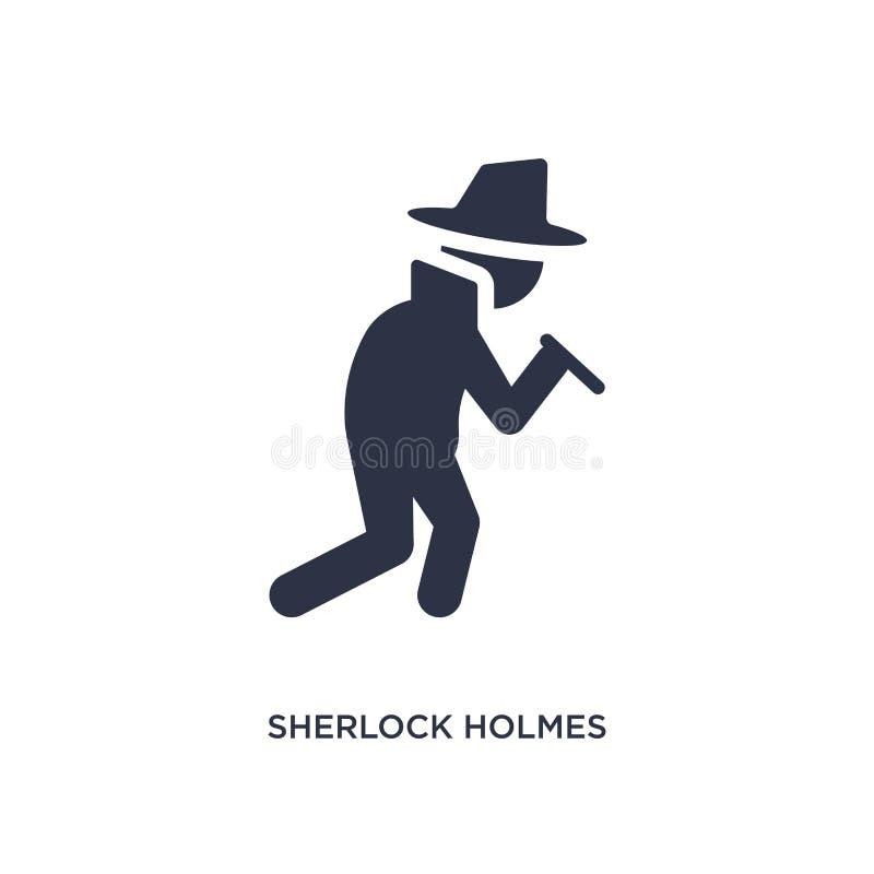 icône de holmes de sherlock sur le fond blanc Illustration simple d'élément de concept de littérature illustration libre de droits