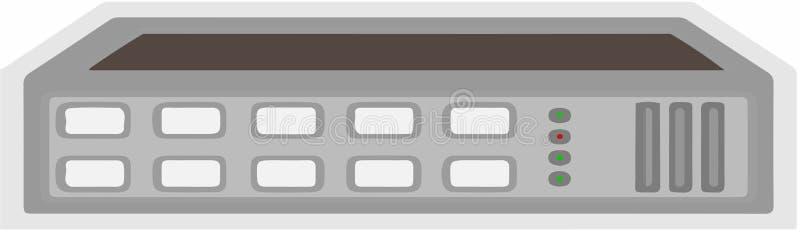 Icône de hub de commutateur sur le fond blanc illustration stock