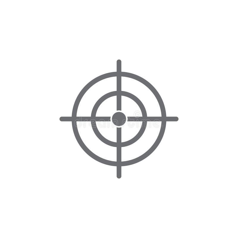 Icône de but Illustration simple d'élément calibre de conception de symbole de but Peut être employé pour le Web et le mobile illustration libre de droits
