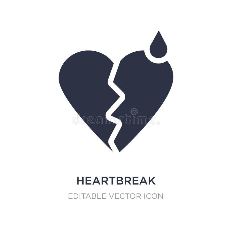 icône de immense chagrin sur le fond blanc Illustration simple d'élément de concept de formes illustration libre de droits