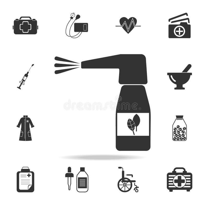 Icône de jet de gorge Ensemble détaillé d'illustration d'élément de médecine Conception graphique de qualité de la meilleure qual illustration stock