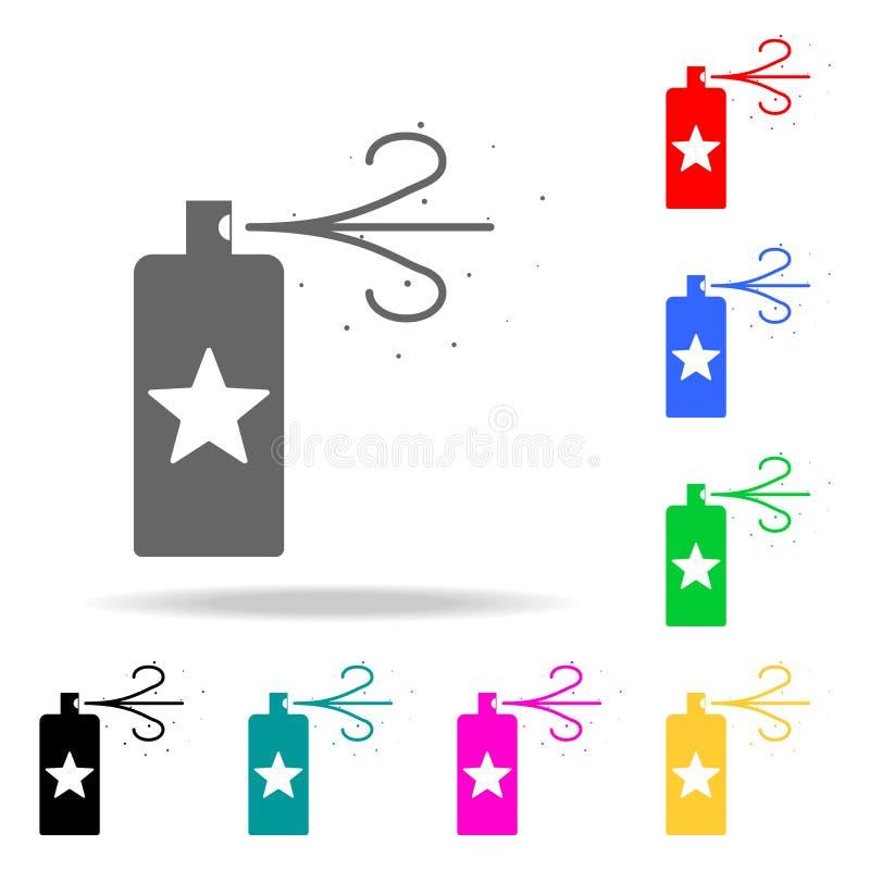 icône de jet de neige Éléments des icônes colorées multi de partie Icône de la meilleure qualité de conception graphique de quali illustration libre de droits