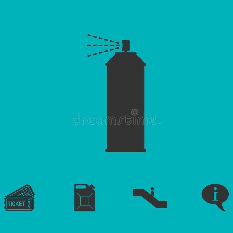 Icône de jet plate illustration stock