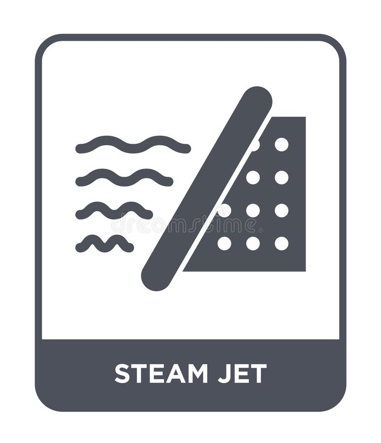 icône de jet de vapeur dans le style à la mode de conception icône de jet de vapeur d'isolement sur le fond blanc appartement sim illustration de vecteur