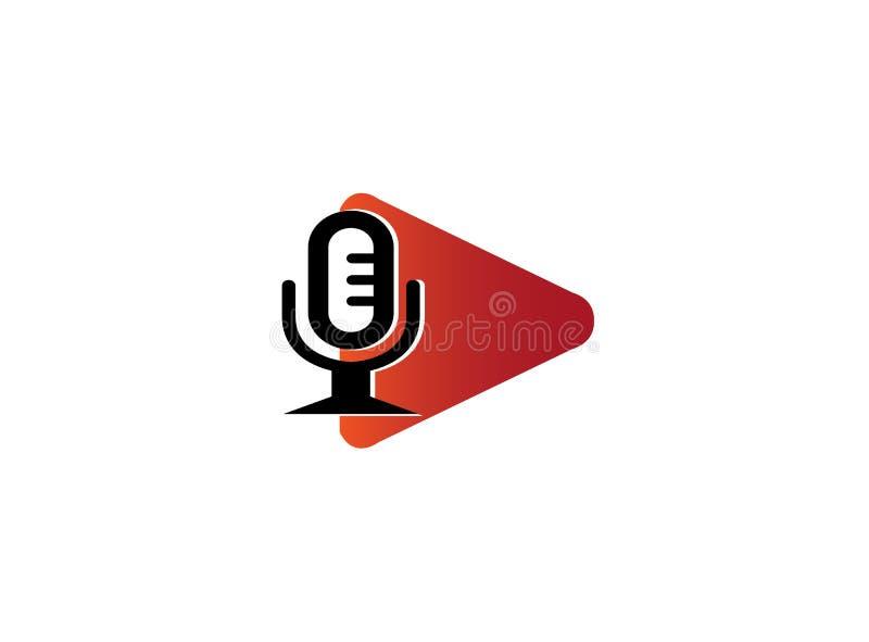 Icône de jeu avec le microphone pour la conception de logo illustration de vecteur