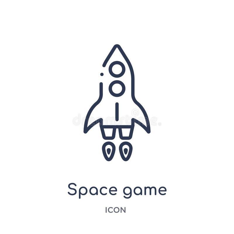 Icône de jeu d'espace linéaire de divertissement et de collection d'ensemble d'arcade Ligne mince vecteur de jeu de l'espace d'is illustration libre de droits