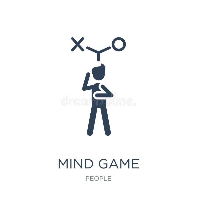 icône de jeu d'esprit dans le style à la mode de conception icône de jeu d'esprit d'isolement sur le fond blanc appartement simpl illustration libre de droits