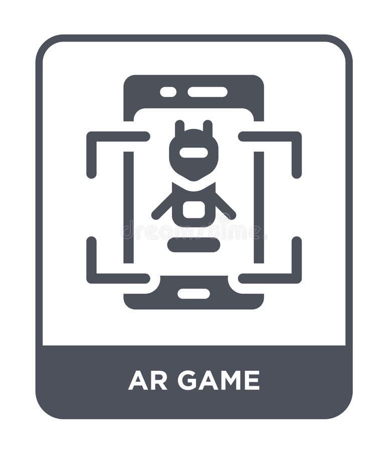 icône de jeu de l'AR dans le style à la mode de conception icône de jeu de l'AR d'isolement sur le fond blanc symbole plat simple illustration stock