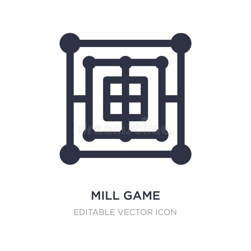 icône de jeu de moulin sur le fond blanc Illustration simple d'élément de concept de divertissement illustration de vecteur