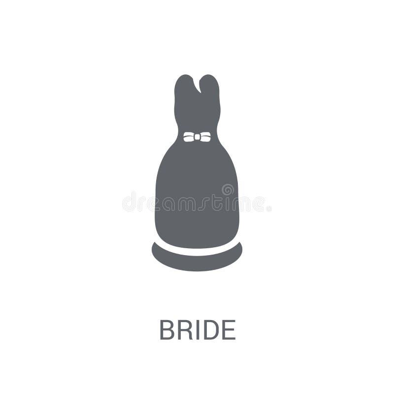 Icône de jeune mariée  illustration stock