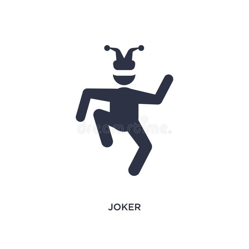 icône de joker sur le fond blanc Illustration simple d'élément de concept de brazilia illustration stock