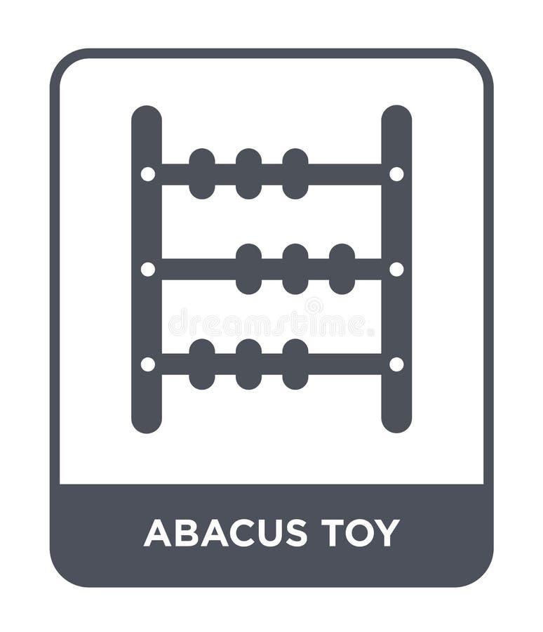 icône de jouet d'abaque dans le style à la mode de conception icône de jouet d'abaque d'isolement sur le fond blanc icône de vect illustration libre de droits