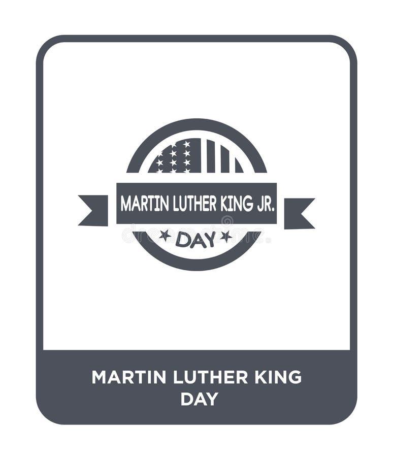 icône de jour de Martin Luther King dans le style à la mode de conception icône de jour de Martin Luther King d'isolement sur le  illustration libre de droits